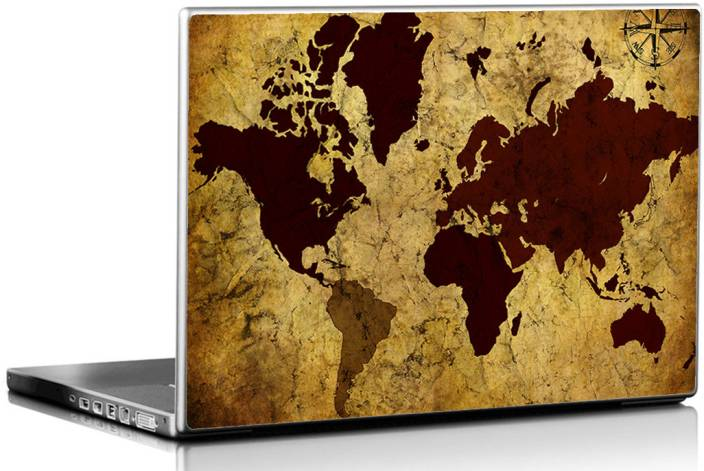 Seven rays grunge vintage world map vinyl laptop decal 156 price in seven rays grunge vintage world map vinyl laptop decal 156 gumiabroncs Images