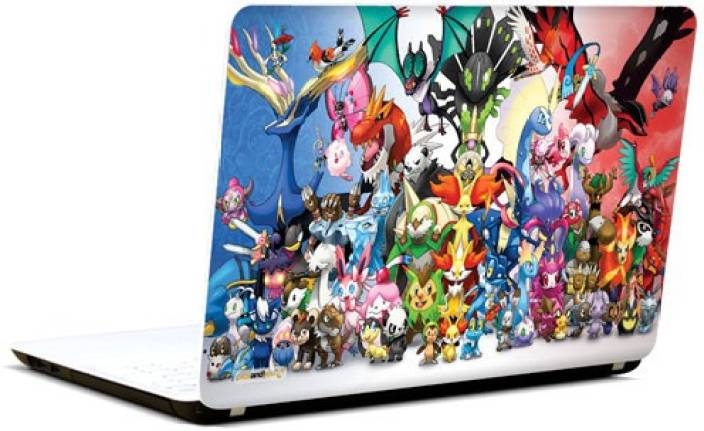 Pics and You Pokemon Cartoon Themed 120 3M/Avery Vinyl Laptop Decal