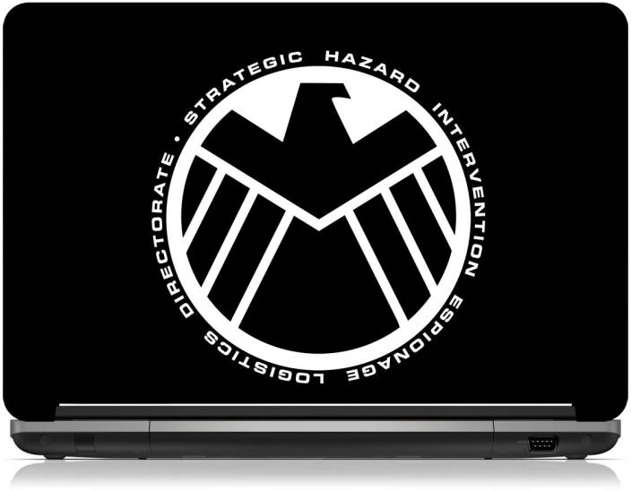 Zapskin marvel the avengers shield logo skin vinyl laptop decal 15 6