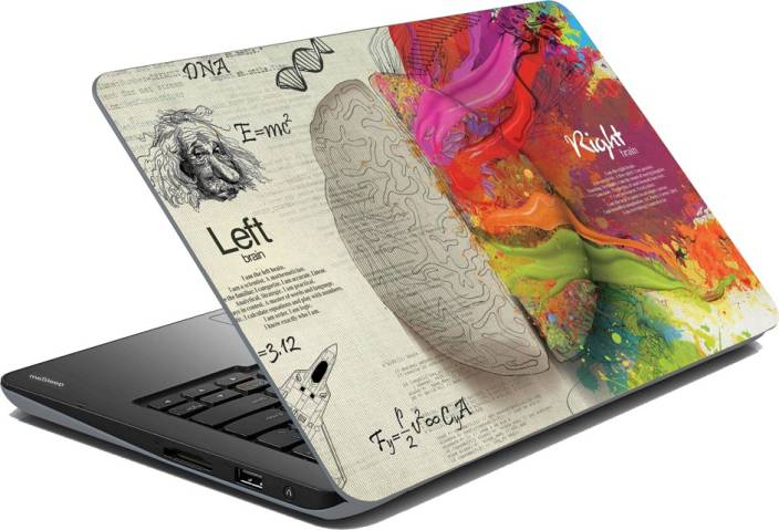 meSleep Brain Vinyl Laptop Decal 15.6