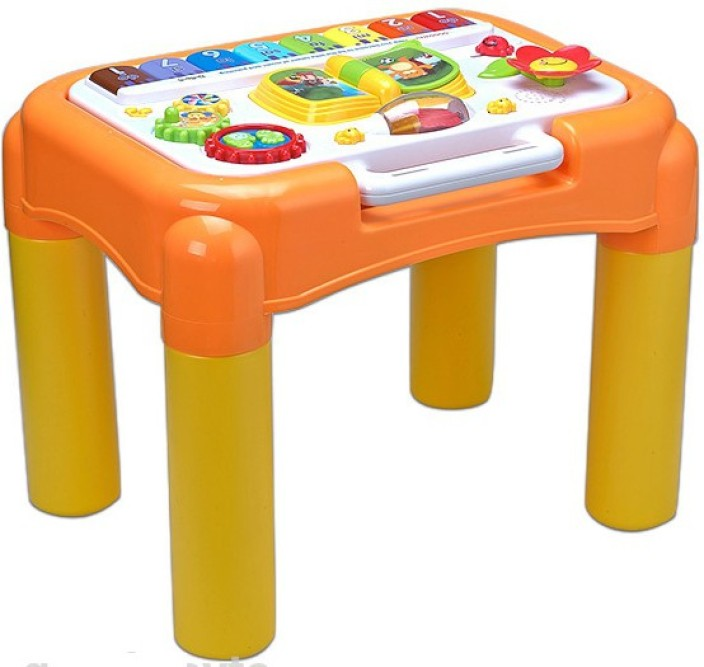 GoAppuGo Multipurpose Kids Activity Table Baby Birthday Gift for 1 2 3 year old boy girl Educational Learning Musical Toy (Multicolor)