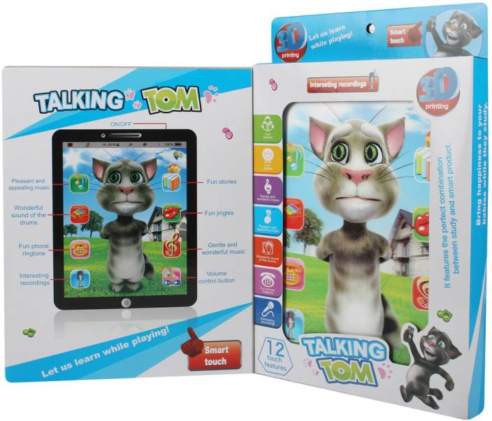 50fc97f7938e3 Just Toys 3 D Interactive Learning Talking Tom tablet Large Screen Size  Imported High Quality Loaded with features (Multicolor)