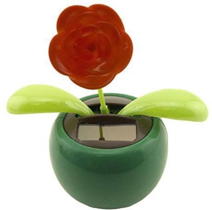 97c8f364b0e8ef Adorox Adorox Solar Powered Dancing Flower Bobble Plant Rocking Swing Pot  Desk Toy Fun (Red Rose Green Pot (1 Pot)) (Green)