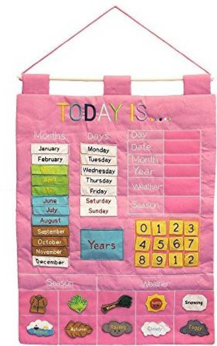 Alma S Designs Today Is Children S Calendar Wall Chart By Alma S