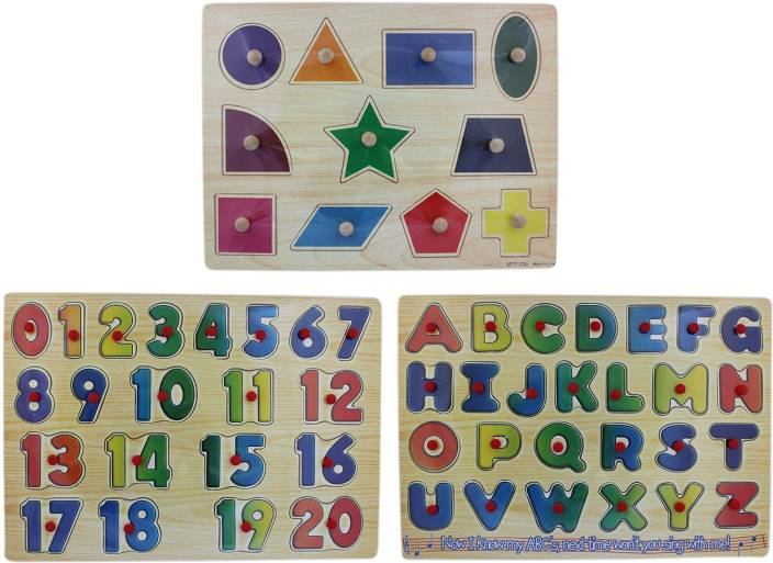 Toys & Hobbies Wooden Alphabet And Numbers Blocks 50% OFF