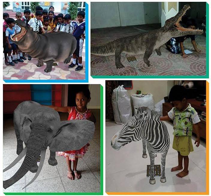 Sareddy African Wildlife 4D Animals Flash cards