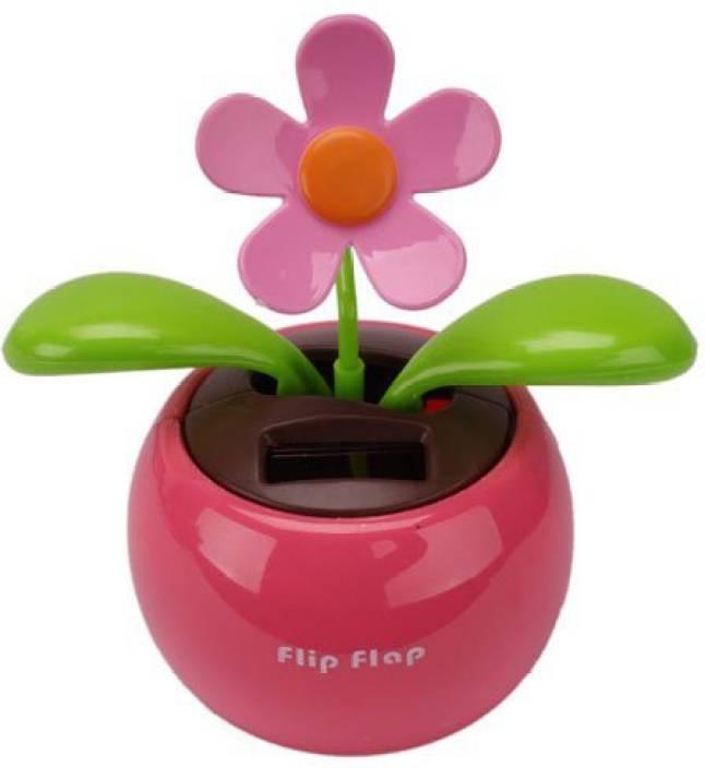 acbcafac37ecfb Kungfu Mall Car Rose-red Cute Flip Flap Swing Solar Flower Price in ...