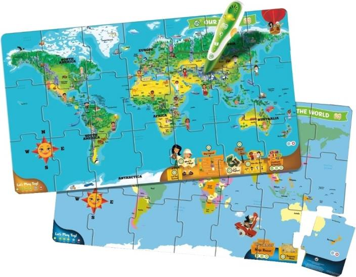 Leapfrog interactive world map puzzle price in india buy leapfrog interactive world map puzzle gumiabroncs Images
