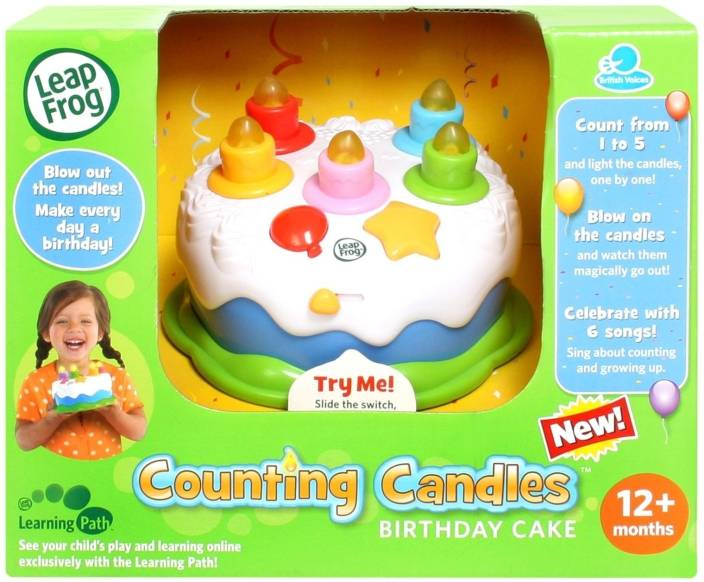 LeapFrog Counting Candles Birthday Cake Multicolor