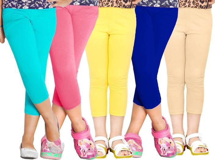 Naughty Ninos Capri For Girls Solid Cotton