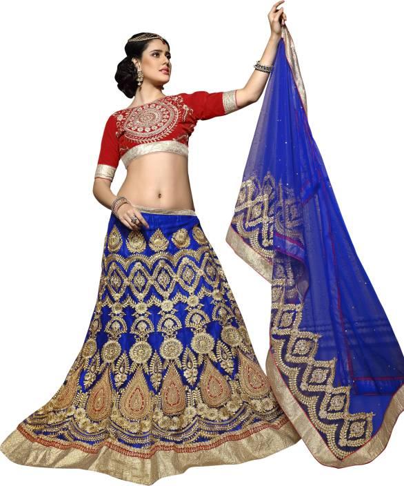 Aasvaa Embroidered Lehenga, Choli and Dupatta Set