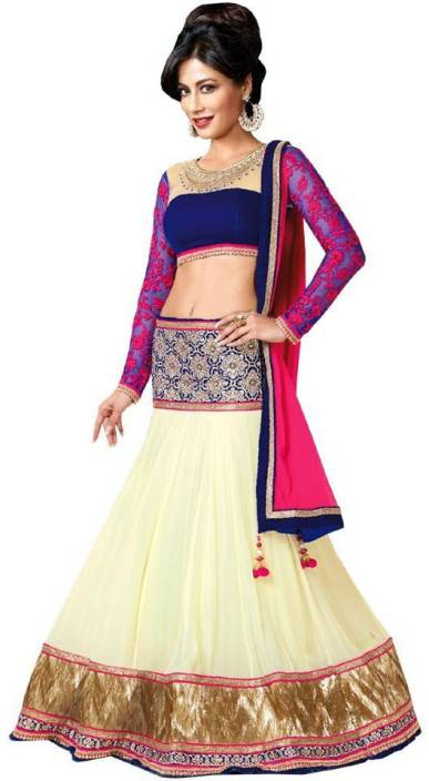 3232d5cab Chamunda Enterprise Embroidered Lehenga