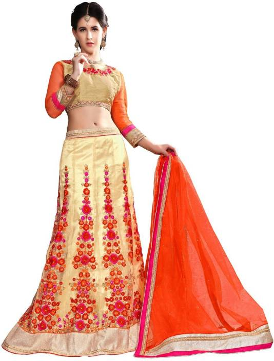 Youth Mantra Embroidered Lehenga, Choli and Dupatta Set