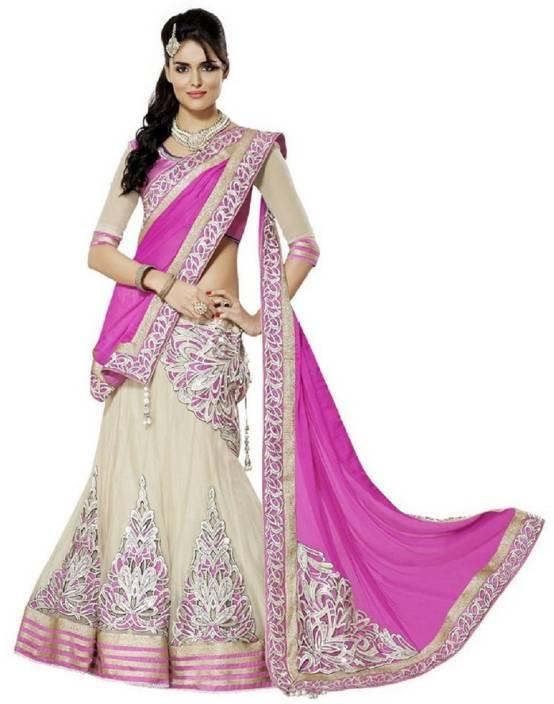 Happneyfab Self Design Ghagra, Choli, Dupatta Set