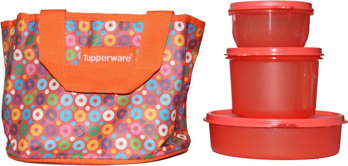 tupperware girls day out 3 containers lunch box. Black Bedroom Furniture Sets. Home Design Ideas