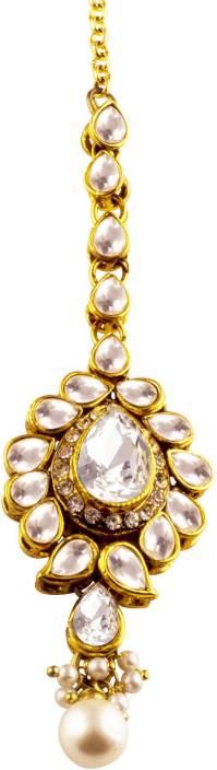 Jahnvi Glittering Metal Maang Tikka Price In India Buy