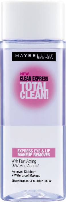 maybelline clean express total clean express eye lip makeup remover makeup remover price in. Black Bedroom Furniture Sets. Home Design Ideas