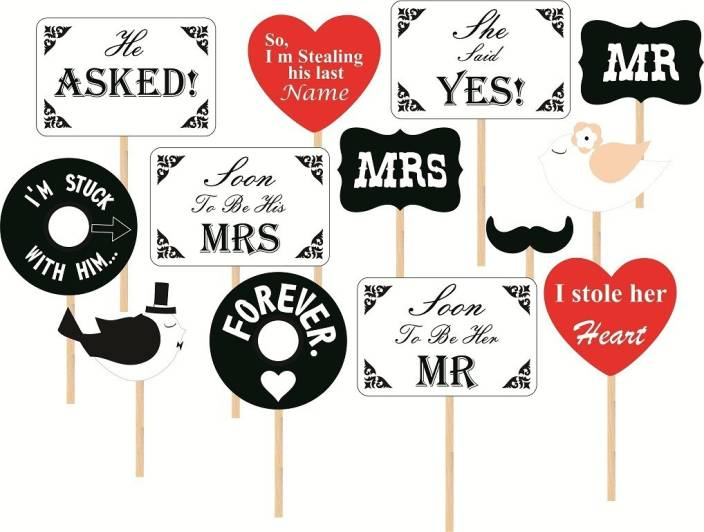 Wedding Photos Props.Syga Syga Set Of 13 Pre Wedding Photos Booth Props Party Mask