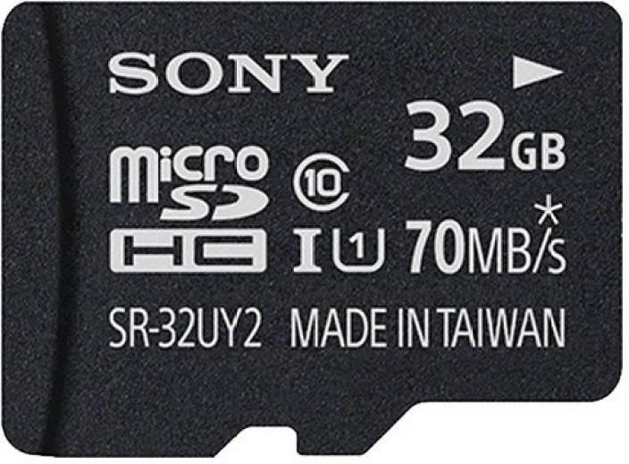 Sony 32 GB MicroSDHC Class 10 70 MB/s  Memory Card