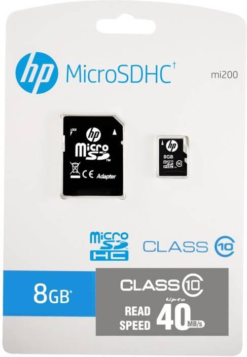HP 8 GB MicroSDHC Class 10 40 MB/s  Memory Card