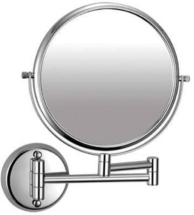 Fancy Glass Round Zoom Bathroom Mirror