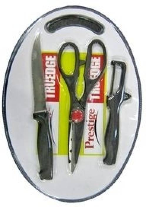 Prestige 3Pc set ( Knife, Scissor, Peeler) and Nylon Board