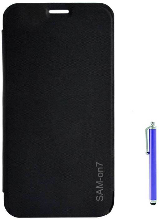 promo code dad84 75980 TBZ Flip Cover Case for Samsung Galaxy on7 with Stylus -Black ...