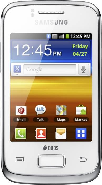 Samsung Galaxy Y Duos (Pure White, 160 MB)