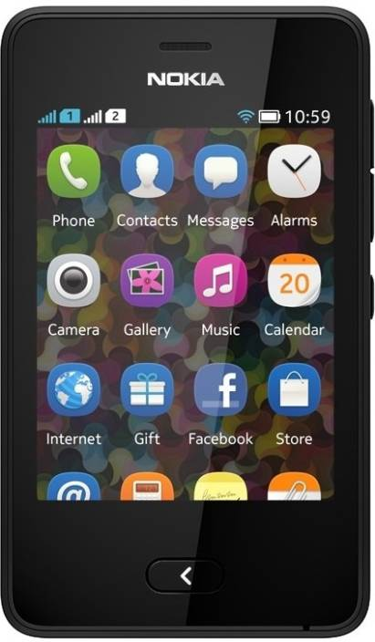 Nokia Asha 501 (Black, 128 MB)