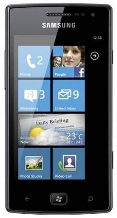 Samsung Omnia W (Metallic Black, 8 GB)
