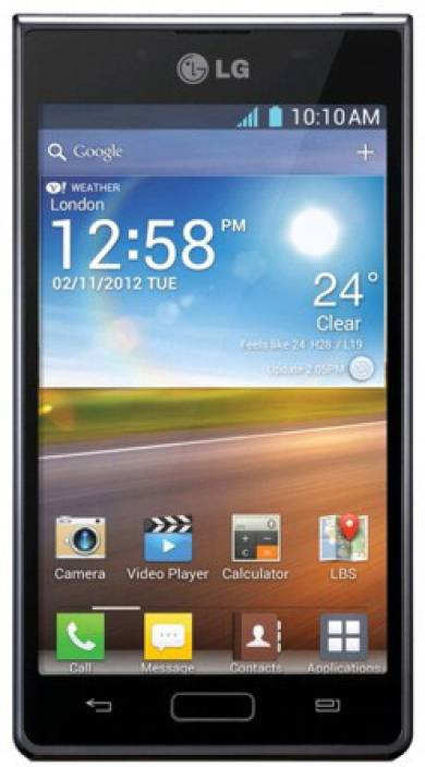 LG Optimus L7 P705 (Black, 4 GB)