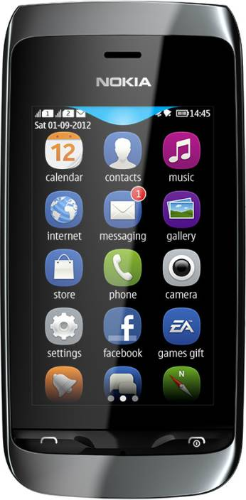 Nokia Asha 310 (Black, 20 MB)