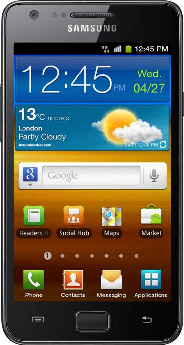 Samsung Galaxy S II (Noble Black, 16 GB)