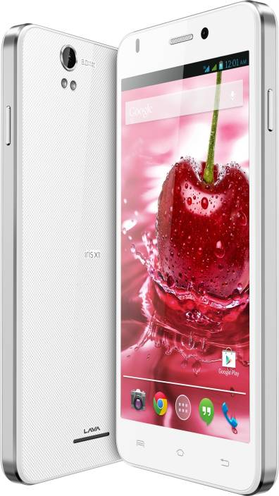 Lava Iris X1 Grand With Flip Cover (White and Silver, 8 GB)