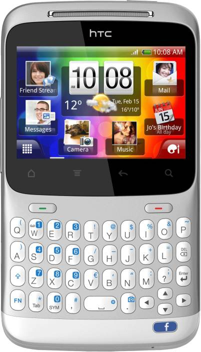 HTC ChaCha (Silver White, 512 MB)