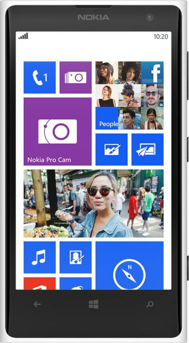 nokia lumia 1020 white. Nokia Lumia 1020 (White, 32 GB) White