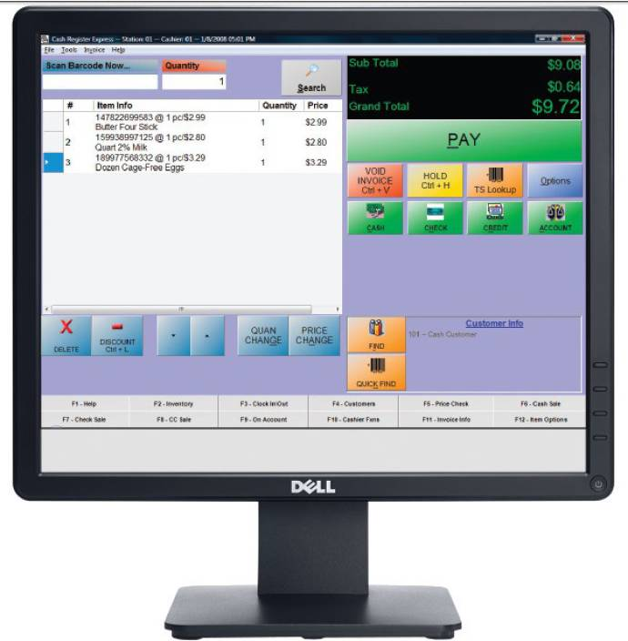 Dell E1713S 17 inch LED Backlit LCD Monitor