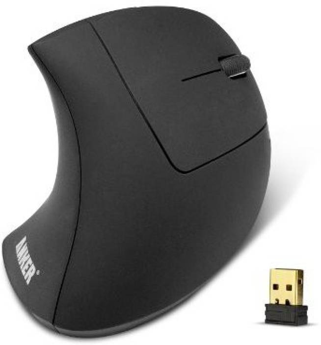 7b9b16e4bc2 Anker 2.4G Wireless Vertical Ergonomic Optical Mouse, 800 / 1200 /1600DPI,  5 Buttons Wireless (USB, Black)