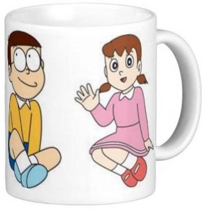 g g doremon nobita and suzika talking ceramic mug price in india