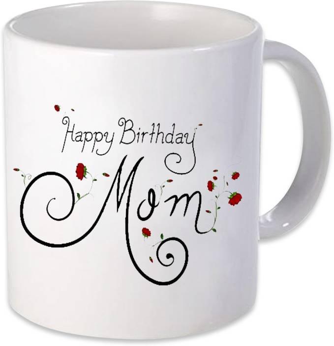Heyworlds Happy Birthday Mom Gifts Ceramic Mug 325 Ml