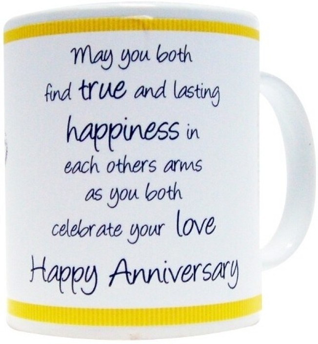 Image of: Parents Everyday Gifts General Quote Gift For Happy Anniversary Ceramic Mug 400 Ml Flipkart Everyday Gifts General Quote Gift For Happy Anniversary Ceramic Mug
