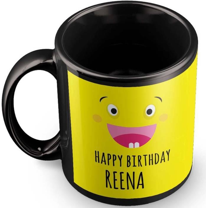 Posterchacha Reena Name Happy Birthday Gift Ceramic Mug