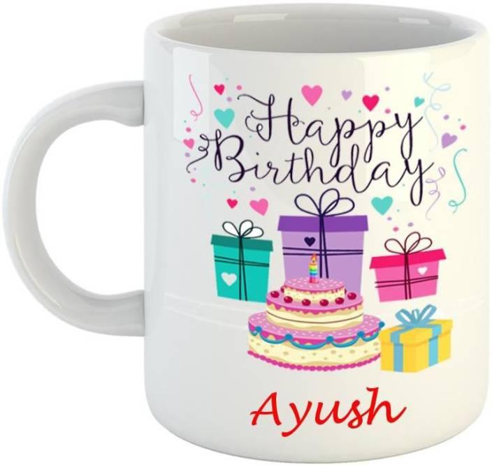 Dream Web Happy Birthday Ayush Ceramic Mug Price In India Buy