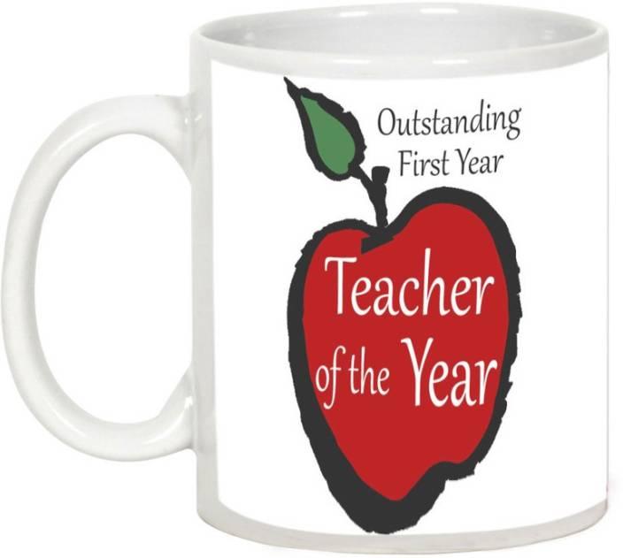 AllUPrints Outstanding Teacher Ceramic Mug