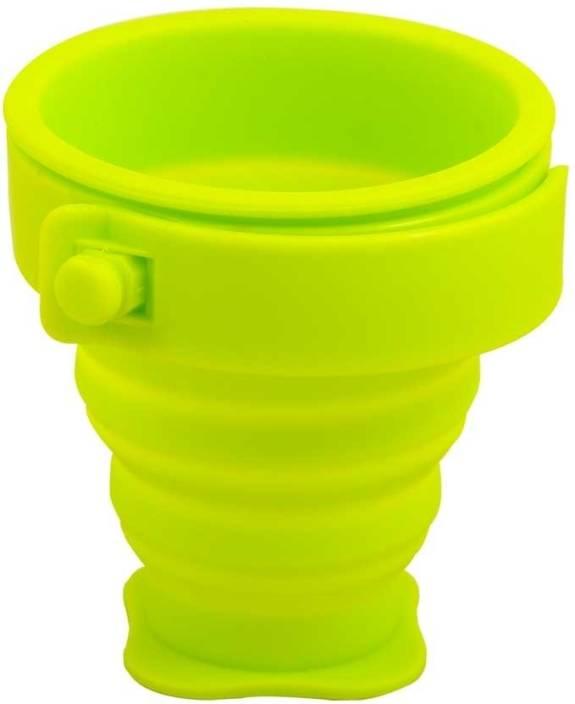 ShopeGift Magic Foldable, Collapsible Silicon Plastic Mug