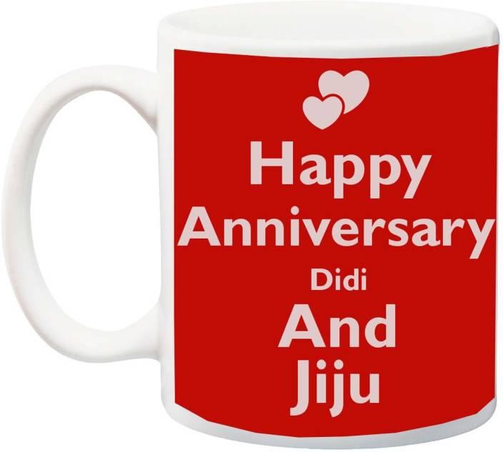 Meyou Gift For Happy Anniversary Didi And Jijaji Printed Ceramic