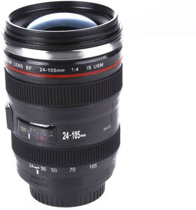 Gadget Paradise Camera Lens Blue Lid Canon Flask Birthday Diwali Christmas Gift Stainless Steel Mug