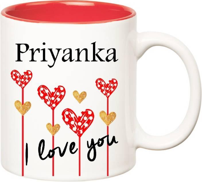 c2db49550 Huppme I Love You Priyanka Inner Red (350 ml) Ceramic Mug Price in ...