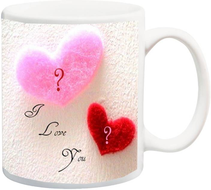 ME&YOU Gift for Husband/Wife/Boyfriend/Girlfriend/lover;I Love You HD Printed Ceramic Mug (325 ml)