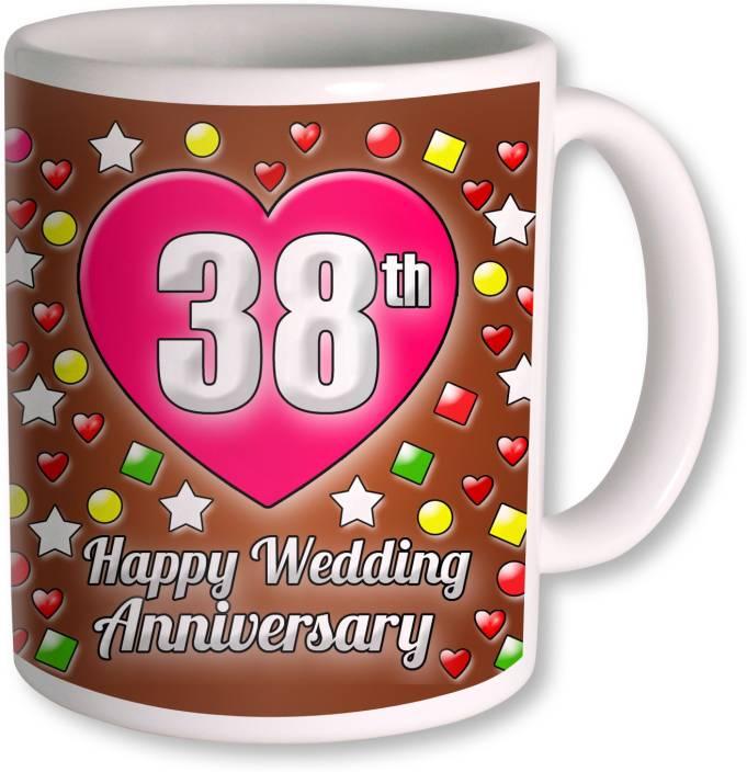 Heyworlds 38th Wedding Anniversary Gift Ceramic Mug